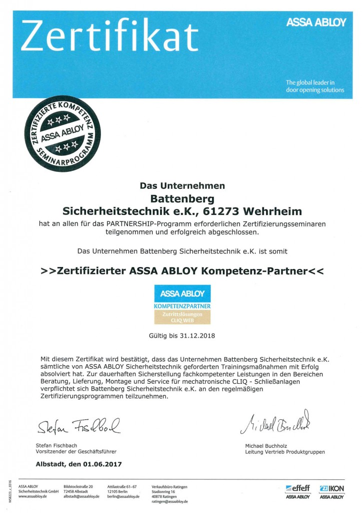 assa-abloy-zertifikat-battenberg-sicherheitstechnik-2