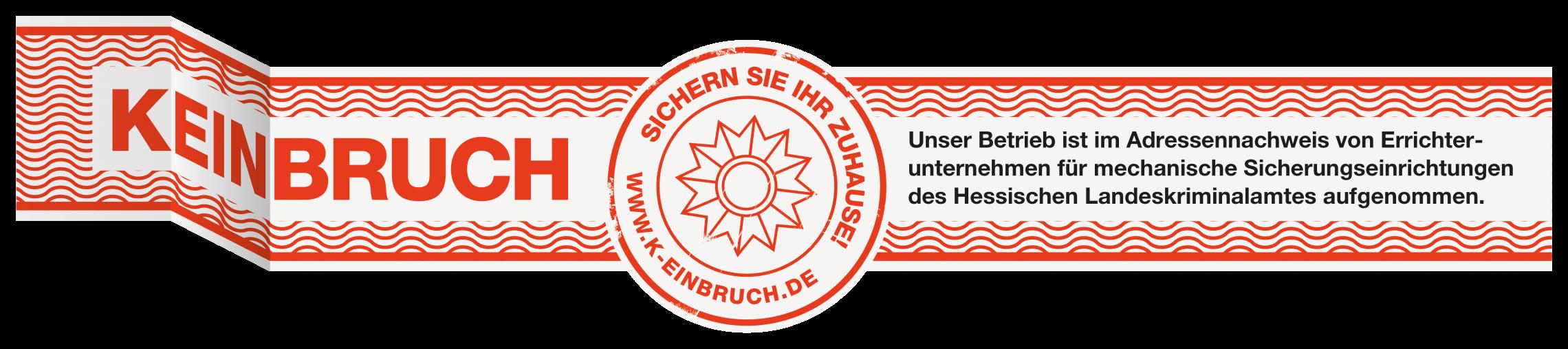 K(ein)bruch - Prüfsiegel Hessen